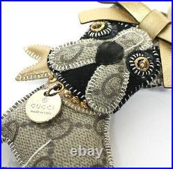 GUCCI Guccioli GG French Bulldog Leroy Bag Charm Key Ring #52589 from Japan