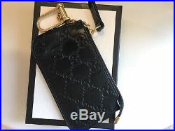 GUCCI Guccissima Clip Key Cles Key Pouch Holder