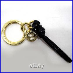 GUCCI Interlocking G Keyring key ring black / gold