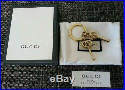 GUCCI Key holder Bag charm Key chain AUTH Key ring Heart Gold Gift