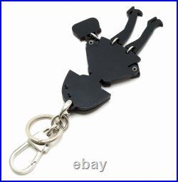 GUCCI LADY girl Wood rhinestone key chain key charm key ring black black 1003