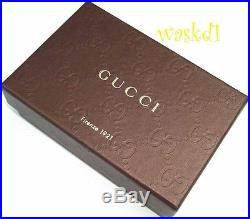 GUCCI black NICE Patent Micro Guccissima leather SPUR Key holder CASE NIB Authen