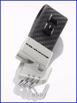 Genuine Mercedes Benz Key Chain Leather Strap Keyring AMG GT Carbon Black