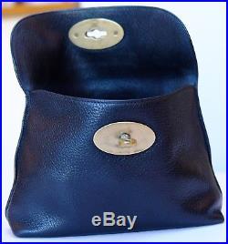 Genuine Mulberry Bayswater Black Leather Locked Cosmetics Purse Vgc