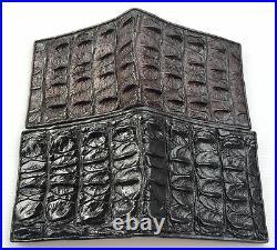 Genuine Real Crocodile Alligator Bone Leather Man Bifold Trifold Wallet New