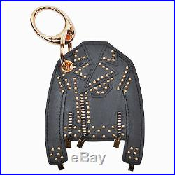 Gianni Versace Leather Black/ Gold Key Chain NEW
