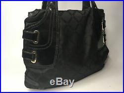Gianni Versace Vintage Greek Key Nylon Patent Leather Handbag Medusa Chain Italy
