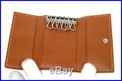 Goyard 6 Hook Key Case Leather Black Auth #3324