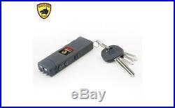 Guard Dog Hornet Keychain Rechargeable Stun Gun Flashlight, SG-GD6000BK, Black