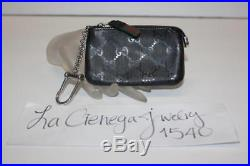 Gucci'500 by Gucci' Black GG Imprime Leather Key Pouch 269361 Change Holder