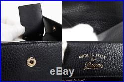 Gucci 6 Hook Key Case Leather Black 354499 100%Auth #4069