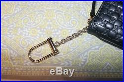 Gucci Black Micro-GG Zip Top KeyChain Case #544248