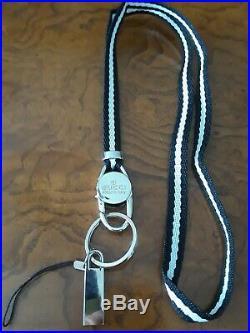 Gucci Black/White Lanyard Keychain