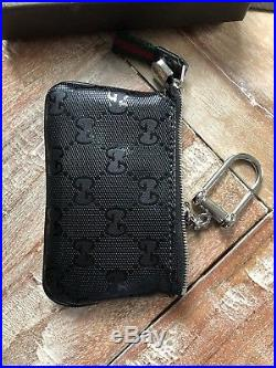 Gucci Coin & Card Zippered Pouch Keychain Wallet