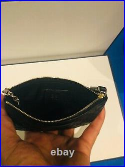 Gucci Key Chain Case Black Micro GG Zip Top Made in Italy