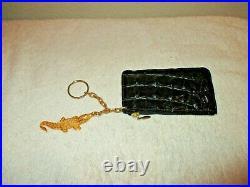 Handmade Genuine Crocodile Leather Wallet Coin Purse and Key chain