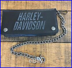 Harley-Davidson Truckers Wallet & Key Chain Limited Edition RFID Protection B&S
