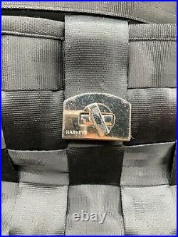 Harveys Seatbelt Bag Carriage Ring Hobo Black Handbag Purse Rosette & Keychain