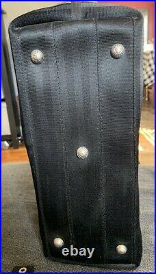 Harveys Seatbelt Belle Medium Black Bag With Keychain. Please See Pics/Read Descr