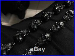 Heavy BLACK SKULL Wallet Key Chain for Harley Davidson Outlaw Rider Biker TBE91