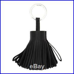 Hermes Black Lambskin Carmen Keychain