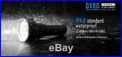 IMALENT DX80 LED 32000lm Flashlight with Built in Batteries and Keychain Light