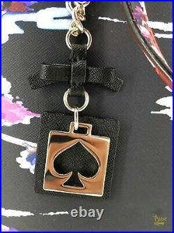 KATE SPADE Black Laurel Way Blurry Floral Dally Tote Bag Wallet & Keychain Set