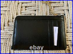 Kate Spade Kali Small Dome Crossbody Black Leather & Card Wallet Keychain Set