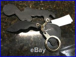 Kate Spade Marigold Brighton Lane Black & Cat/Leopard Key chain NWT! Stunning