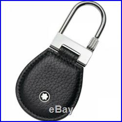 Key Ring MONTBLANC MEISTERSTUCK Soft Grain Black Leather Key Chain 113311 NEW