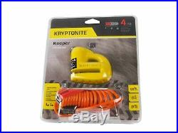 Kryptonite 5-S2 Disc Lock Black and Disc Lock Yellow with912 4ft Integrated Chain