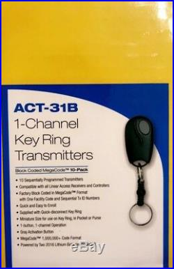LINEAR ACT-31B Keychain Garage Door Opener MEGACODE Transmitter REMOTE ACP00879