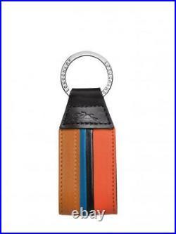LONGCHAMP Ruban Key Fob Black Small Keys Chain Le Foulonne Wallet Homme Box NEW