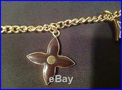 LOUIS VUITTON Authentic Porte Cles bag chain/charm key ring