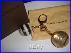 LOUIS VUITTON BIJOU MINI LIN Key Chain Handbag Charm Gold, Black, Midnight Blue
