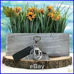 LOUIS VUITTON Black Taiga Leather Club Key Chain Bag Charm SALE