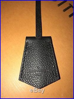 LOUIS VUITTON Empreinte Leather Key Bell Clochette Bag Charm Noir Black with Strap