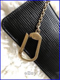 LOUIS VUITTON Epi Leather Key Pouch Key Cles Black Retails For $365