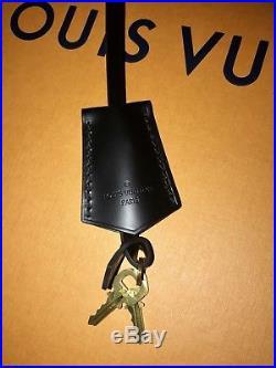 LOUIS VUITTON Key Bell Clochette Bag Charm Noir Black with Strap