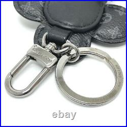 LOUIS VUITTON MP1998 Monogram Eclipse Porte Cles Du Du Vivienne Key Holder Ring