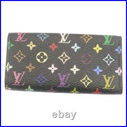 LOUIS VUITTON Monogram Multicolor Multicles 4 Keys Case Black M60044 Auth nh103