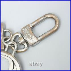 LOUIS VUITTON PORTE CLES LV CLUB Key Ring Key Holder Taiga Ardoise Silver M66134
