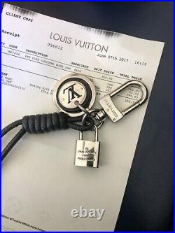 LOUIS VUITTON Pte Cles Leather Rope Key Chain/bag Charm