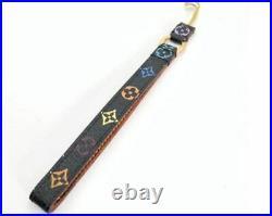LOUIS VUITTON Women's Key Ring Strap Multicolor Black / Brown Monogram 17cm