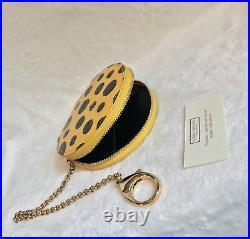 Limited Edition LOUIS VUITTON YAYOI KUSAMA DOTS ROUND COIN KEY Bag Charm YELLOW