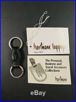 Lot of 100 Hartmann Black Leather Oval Valet Key Fob Key Chains NOS
