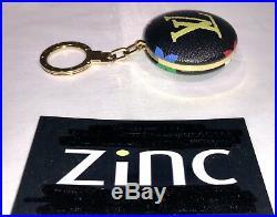 Louis Vuitton Astropill Black Multicolor Bag Charm Key Ring Light LVABM Rare