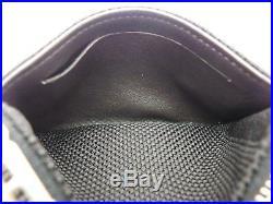 Louis Vuitton Authentic Damier Geant Noir Key Chain Coin Purse Wallet Auth LV