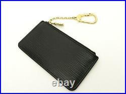 Louis Vuitton Authentic Epi Leather Black Key Chain Coin Purse Wallet Auth LV