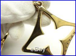 Louis Vuitton Authentic Metal Gold Black Porte Cles Puzzle Key Chain Bag Charm